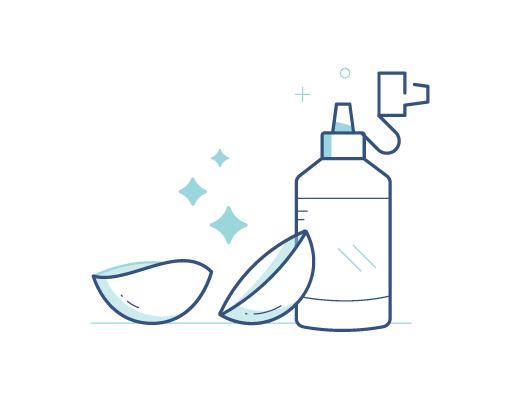 Lentes de Contato e Solução de Limpeza