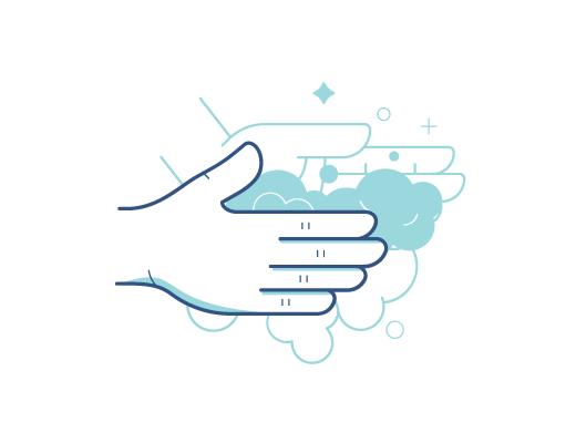 Lavando as mãos