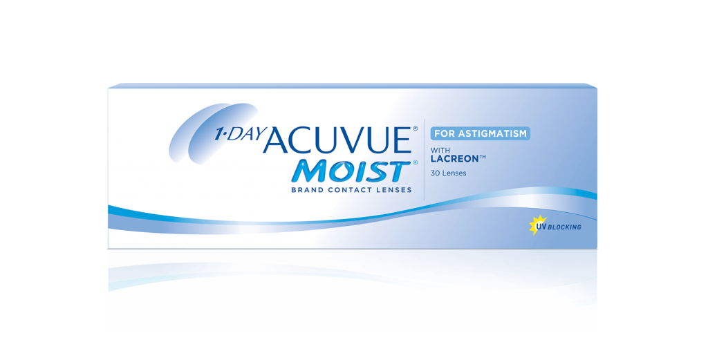 1-DAY ACUVUE MOIST® para ASTIGMATISMO com LACREON®
