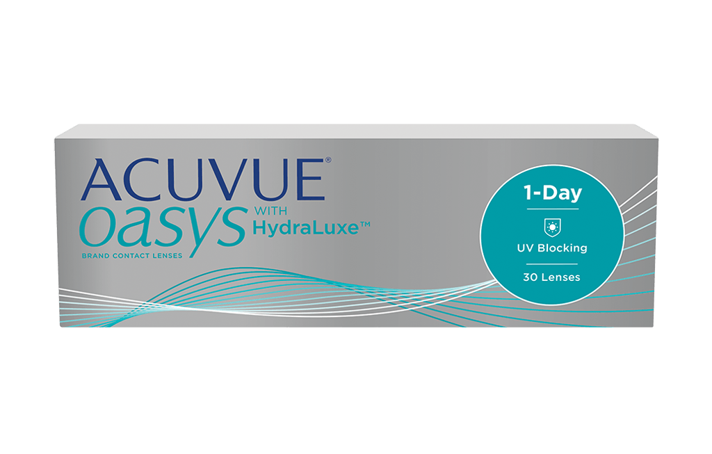 ACUVUE OASYS® 1-Day com HydraLuxe™